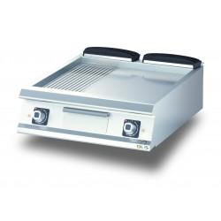 D7410TFTE13R - Élément top - Grillade électrique - Plaque 1/3 rainurée - 735 x 530 mm - Diamante 70 - Olis