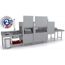 Lave-vaisselle à avancement automatique - Prélavage + Lavage + Rinçage - ISY31112