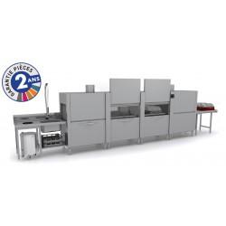 Lave-vaisselle à avancement automatique - Prélavage + Double Lavage + Triple Rinçage + Séchage - TOP31223