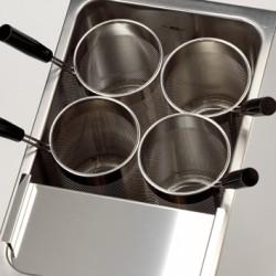 4 Paniers ronds 140 mm de diamètre - pour cuiseurs à pâtes