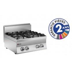 Plaque de cuisson - Top 4 feux vifs gaz - Gamme 650 - Baron