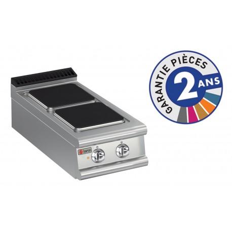Plaque de cuisson - 2 plaques carrées électriques - Gamme 700 - Baron
