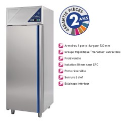 Armoire réfrigérée positive 700 L - Avec groupe logé - Dalmec