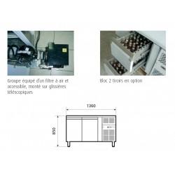 Table réfrigérée positive 313 L - 2 portes - Avec groupe logé - Nosem