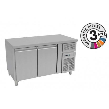 Table réfrigérée négative 313 L - GN 1/1 - 2 portes - Avec groupe logé - Nosem