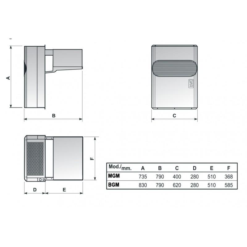 Nosem groupe frigorifique positif monobloc - Groupe monobloc chambre froide ...