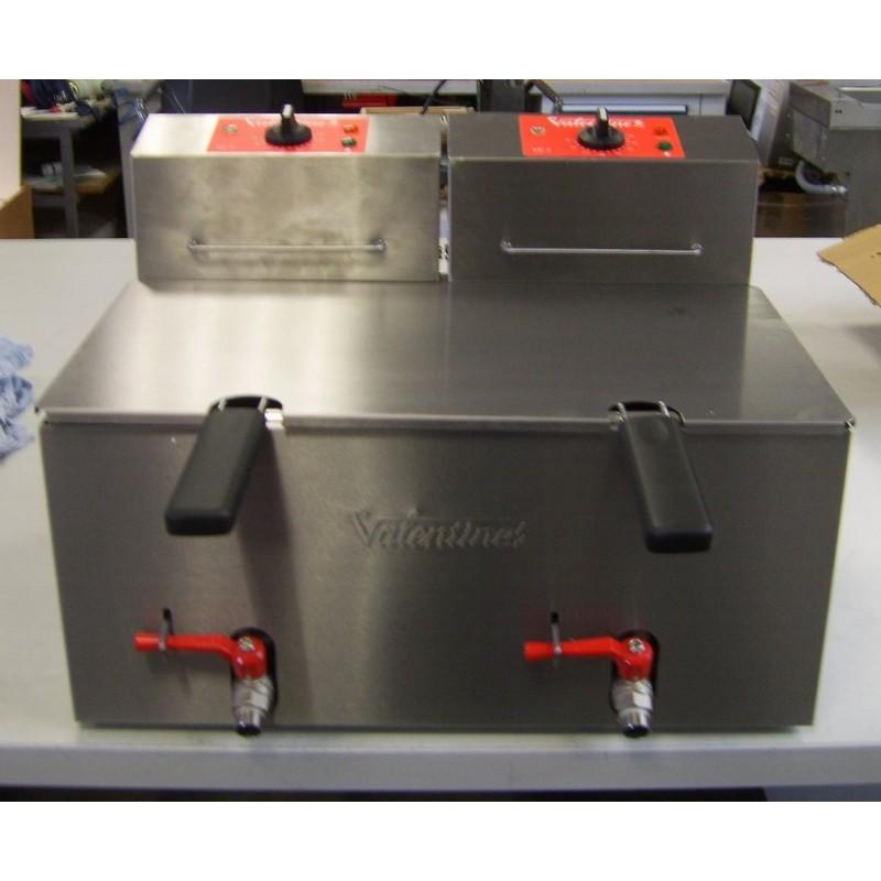 Occasion valentine friteuse lectrique de table 2x7l - Table electrique osteopathie occasion ...