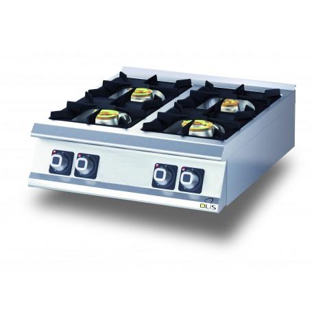 Plaque de cuisson top 4 feux gaz diamante 70 olis for Dimensions plaque de cuisson