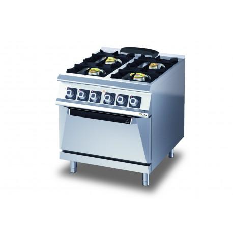 Fourneau - 4 feux gaz sur four électrique - Diamante 70 - Olis