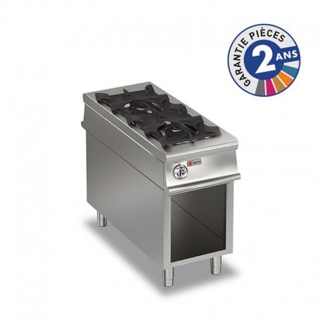 Plaque de cuisson - 2 feux vifs gaz sur baie libre - Gamme 1100 - Baron - 110PCVG450
