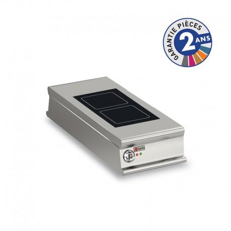 Plaque de cuisson vitrocéramique électrique - 2 zones - Gamme 1100 - Baron