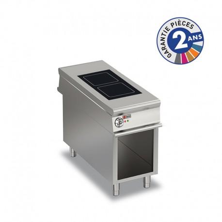 Plaque de cuisson vitrocéramique électrique sur placard ouvert - 2 zones - Gamme 1100 - Baron