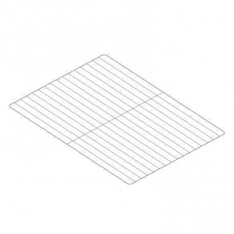Grille inox GN 1/1 530 x 325 - 990334