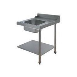 Table avec bac pour machines à capot panier 500 x 500 ou 600 x 500 - PAP707DV