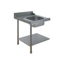 Table avec bac pour machines à capot panier 500 x 500 ou 600 x 500 - PAP707GV
