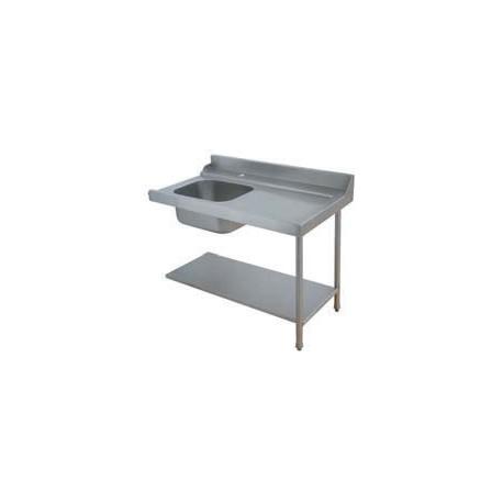 Table avec bac pour machines à capot panier 500 x 500 ou 600 x 500 - PAP712DV