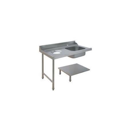 Table avec bac pour machines à capot panier 500 x 500 ou 600 x 500 - PAP712GVF