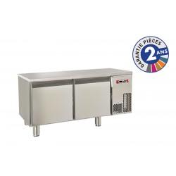 Soubassement réfrigéré sans dessus - 2 portes - 140 L - Gamme 650 - Baron - BR12SP01