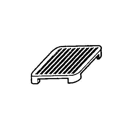 Plaque rainurée 1 feu - 90PRR