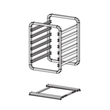 Sructure porte grilles extractibles pour fours 7 GN 1/1 - SST07