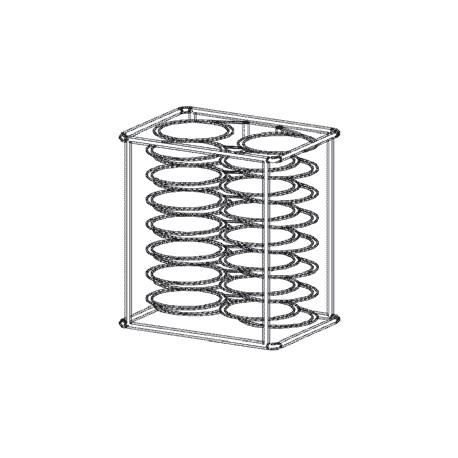Structure porte assiettes et chariots pour four 7 GN 1/1 - PRT07