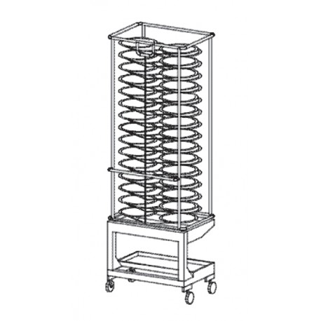 Structure porte assiettes et chariots pour four 20 GN 1/1 - KPT21