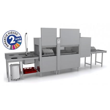 Lave-vaisselle à avancement automatique - Prélavage + Lavage + Rinçage - ISY31102