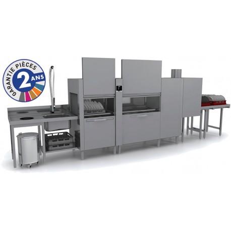Lave-vaisselle à avancement automatique - Prélavage + Lavage + Triple Rinçage - TOP31212
