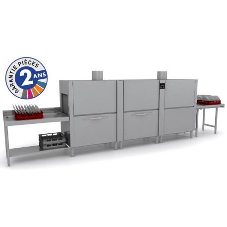 Lave-vaisselle à avancement automatique avec condenseur de buée - Prélavage + Lavage + Triple Rinçage + Séchage - TOP31222