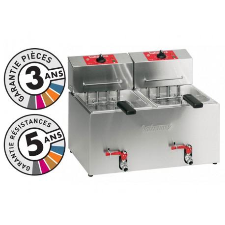 Friteuse électrique de table - 2x7 litres - Valentine - TF77