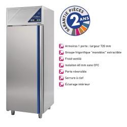 Armoire réfrigérée positive -2/+10°C - 600 L - Avec groupe logé - Dalmec