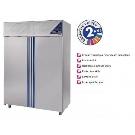Armoire réfrigérée négative -18/-22°C - 1200 L - Avec groupe logé - Dalmec