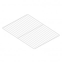 Grille inox GN 1/1 530 x 325 mm - DAGNGRX-2