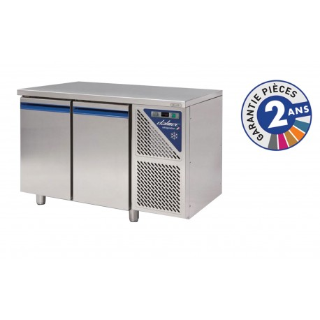 Table réfrigérée positive 0/+10°C - 300 L - 2 portes - Avec groupe logé - Dalmec