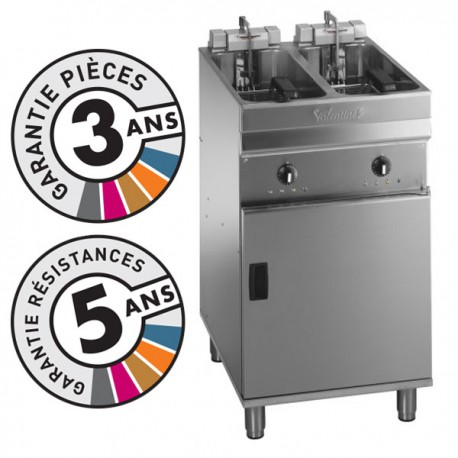 Friteuse électrique sur coffre - 2x 9-10 litres - Valentine - EVO2525T