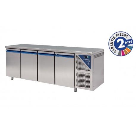 Table réfrigérée positive 0/+10°C - 630 L - 4 portes - Avec groupe logé - Dalmec