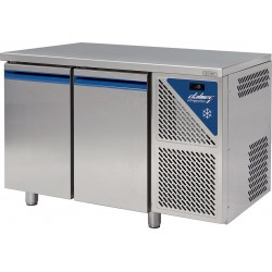 Table réfrigérée négative -18/-22°C sans groupe logé - 396 L - 2 portes pleines - Prof. 800 - 600 x 400 - Dalmec