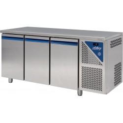 Table réfrigérée négative -18/-22°C sans groupe logé - 606 L - 3 portes pleines - Prof. 800 - 600 x 400 - Dalmec
