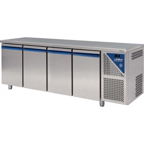 Table réfrigérée positive 0/+10°C sans groupe logé - 816 L - 4 portes pleines - Prof. 800 - 600 x 400 - Dalmec