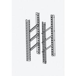 Kit pour l'aménagement interne de l'armoire 1000 x 1000 avec 3 paires de glissières + grilles 600 x 800 Rilsan - DAKITDM14B-2
