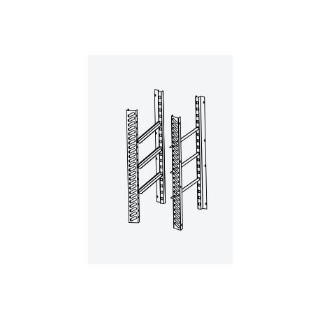 Kit pour l'aménagement interne de l'armoire 1000 x 1000 avec 3 paires de glissières + grilles 600 x 800 en inox - DAKITDM14X-2