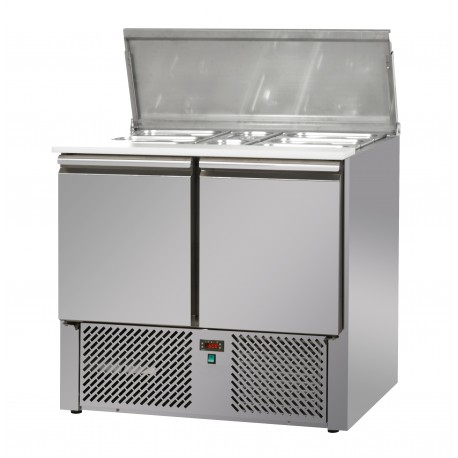 Mini saladette positive +4/+10°C - 2 portes - Prof. 700 mm - Nosem