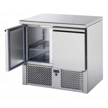 Mini table positive +4/+10°C - 2 portes - Prof. 700 mm - Nosem