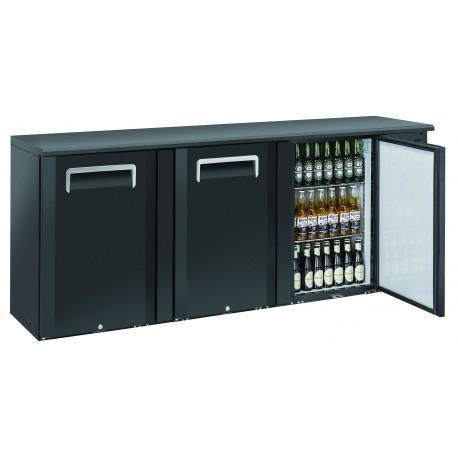 Arrière-bars Skinplate - 3 portes pleines - 500 litres - 6 étagères - Groupe logé - AB300 - Nosem