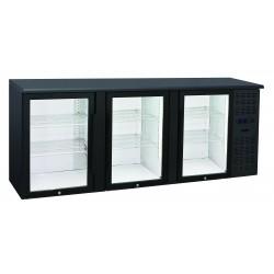 Arrière-bars Skinplate - 3 portes vitrées - 500 litres - 6 étagères - Groupe logé - AB300V - Nosem