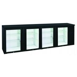 Arrière-bars Skinplate - 4 portes pleines - 618 litres - 8 étagères - Groupe logé - AB400V - Nosem