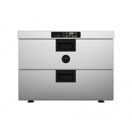 Four statique pour cuisson lente avec sonde à coeur - Introduction du plateau côté large - Série CSD - CSD012E - Moduline