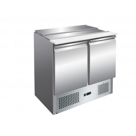 Mini saladette réfrigérée positive 257 L - 2 portes - Avec groupe logé - Nosem