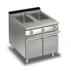 Cuiseur à pâtes monobloc électrique - 2 x 26 litres - Gamme Queen 700 - 70QCPE800 - Baron