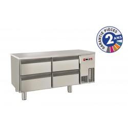 Soubassement réfrigéré sans dessus - 4 tiroirs - 140 L - Gamme 650 - Baron - BR12SP03